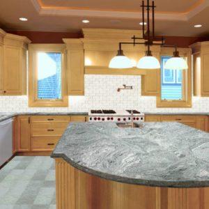Granite vanity